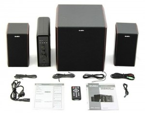 Колонки SVEN MS-3000 Chrry  (2x20W+Subwoofer 40W дерево, SD, USB, МР-3 плеер, FM тюнер, пульт ДУ)